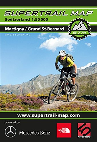 9783905916379: Supertrail Map Martigny / Grand St. Bernard
