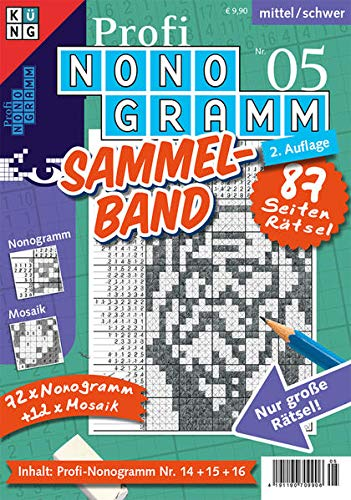 9783906009490: Profi-Nonogramm 3er-Band 05: Schwierigkeitsgrad: mittel/schwer. Nur grosse Rätsel! 72 Nonogramm + 12 Mosaik