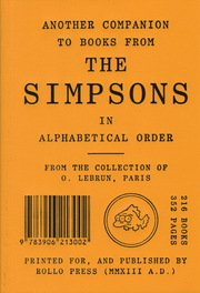 9783906213002: Another Companion to Books from the Simpsons