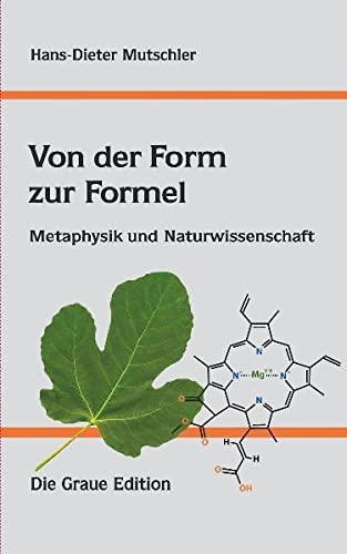 9783906336589: Von der Form zur Formel: Metaphysik und Naturwissenschaft