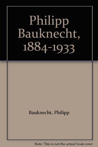 9783906660134: Philipp Bauknecht, 1884-1933