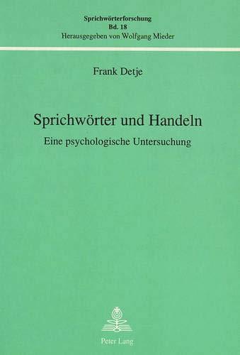 Sprichwörter und Handeln: Frank Detje