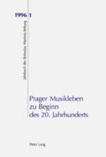 Prager Musikleben zu Beginn des 20. Jahrhunderts: Ales Brezina