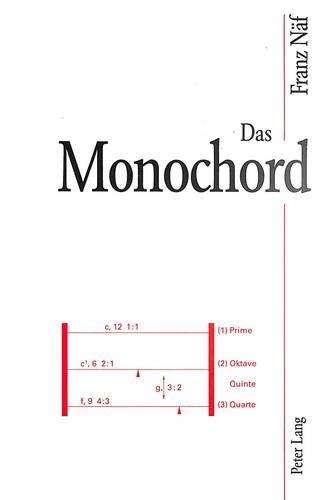 9783906763309: Das Monochord: Versuchsinstrument zur quantitativen Erklärung von Tonsystemen (German Edition)
