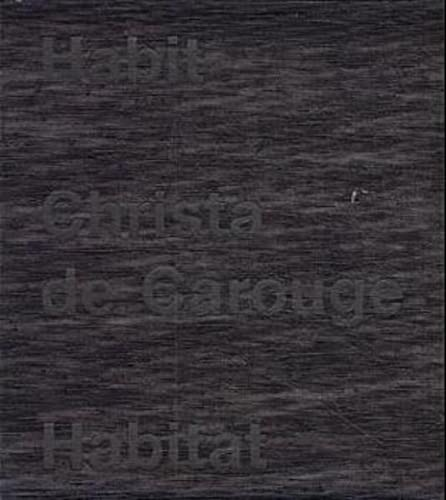 9783907078150: Christa De Carouge: Habit-habitat