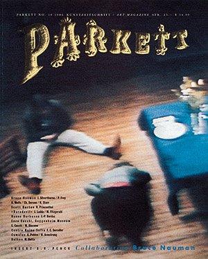 9783907509609: Collaboration: Bruce Nauman (Parkett Art Magazine, No 10, 1986)