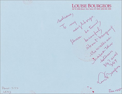 9783908247395: Louise Bourgeois: The Insomnia Drawings