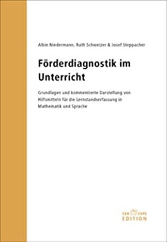 9783908262909: Förderdiagnostik im Unterricht: Grundlagen und kommentierte Darstellung von Hilfsmitteln für die Lernstandserfassung in Mathematik und Sprache