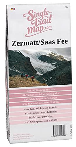 9783909118496: Swiss Singletrail Map / Zermatt/ Saas Fee: Mountainbikekarte f�r das Matterta...