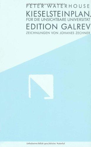 9783910161030: Kieselsteinplan: Für die unsichtbare Universität (Edition Galrev)