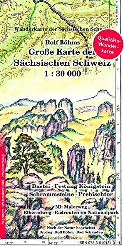 9783910181311: Große Karte der Sächsischen Schweiz 1 : 30 000. Regenfest: Wanderkarte der Sächsischen Schweiz