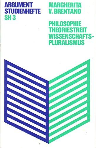 9783920037134: Philosophie - Theoriestreit - Wissenschaftspluralismus