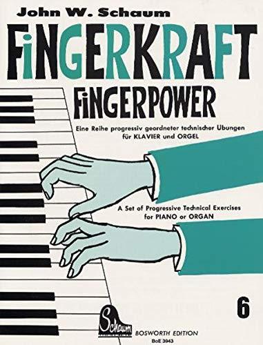 9783920127415: Fingerkraft 6. Eine Reihe progressiv geordneter technischer Übungen für Klavier und Orgel