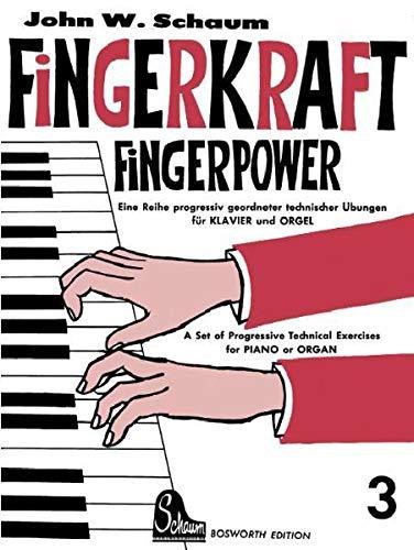 9783920127552: Fingerkraft 3: Progressiv geordnete technische Übungen für Klavier oder Orgel