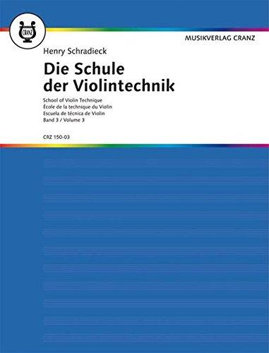 9783920201054: Die Schule der Violintechnik: Band 3. Violine.