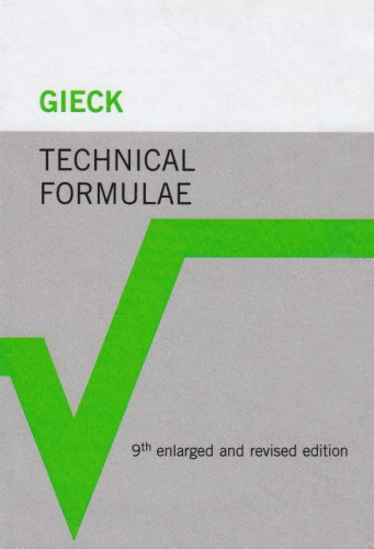 A collection of technical formulae.: Gieck, Kurt and