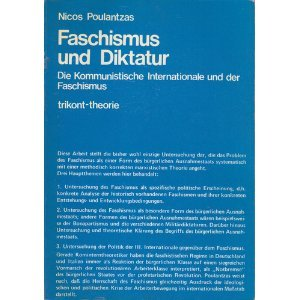 9783920385068: Faschismus und Diktatur. Die Kommunistische Internationale und der Faschismus.