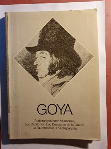 Francisco de Goya. Radierungen nach Velazquez, Los: Ewald Gässler
