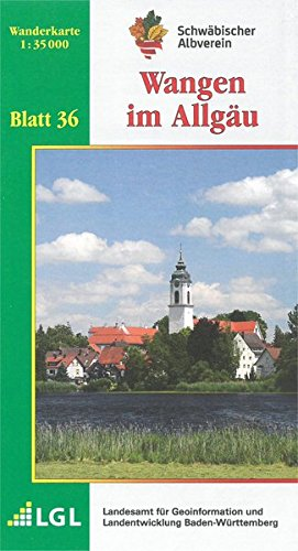9783920801742: Karte des Schwäbischen Albvereins 36 Wangen im Allgäu 1 : 35 000: Wanderkarte