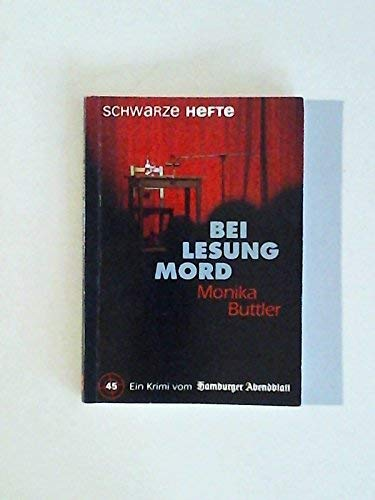 9783921305065: Bei Lesung Mord