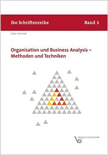 9783921313787: Organisation und Business Analysis - Methoden und Techniken
