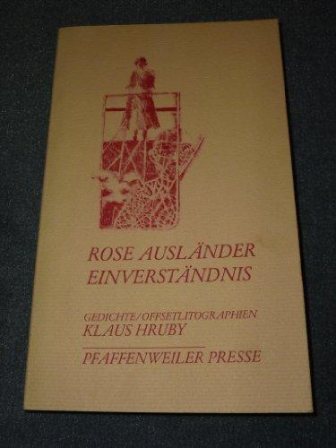 9783921365328: Einverst�ndnis: Gedichte (Pfaffenweiler Literatur)