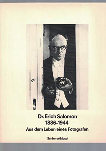 9783921375853: Dr. Erich Salomon, 1886-1944: Aus dem Leben eines Fotografen (German Edition)
