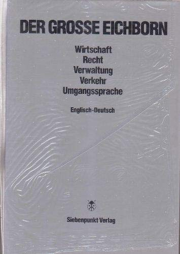 Dictionary of Economics : English and German (Vol. 1): Eichborn, Reinhart V.