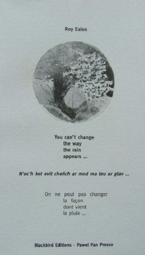 9783921454589: You Can't Change the Way the Rain Appears... (English, Breton and French Edition)