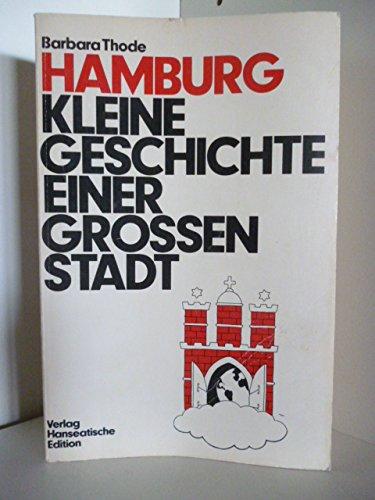9783921554050: Hamburg. Kleine Geschichte einer großen Stadt