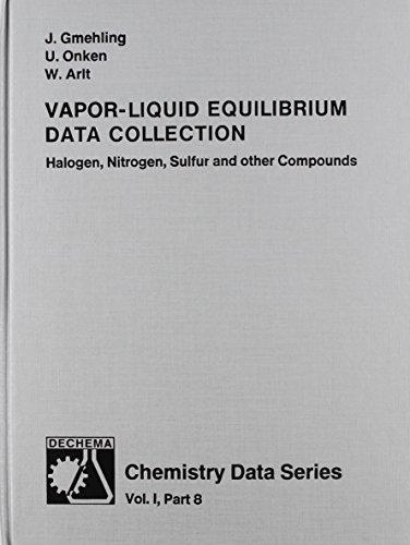 Vapor Liquid Equilibrium Data Collection: Halogen, Nitrogen,: Jurgen Gmehling