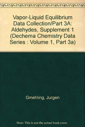 Vapor-Liquid Equilibrium Data Collection. Aldehydes (Supplement 1). DECHEMA Chemistry Data Series, ...
