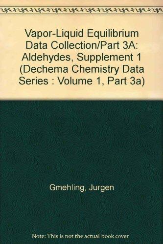 9783921567937: Vapor-Liquid Equilibrium Data Collection/Part 3A: Aldehydes, Supplement 1 (Dechema Chemistry Data Series : Volume 1, Part 3A)
