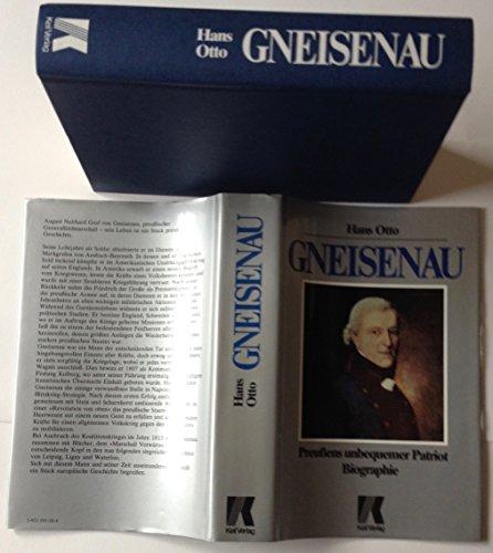 9783921591109: GNEISENAU : Preussens unbequemer Patriot Biographie