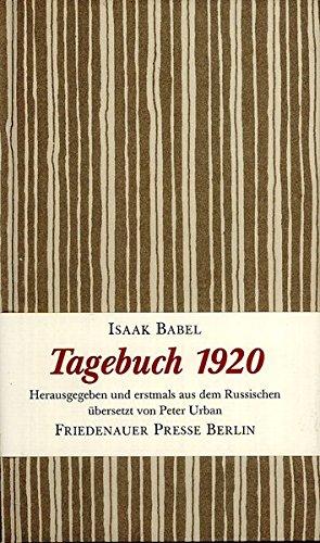 9783921592595: Tagebuch 1920. Ein Winterbuch
