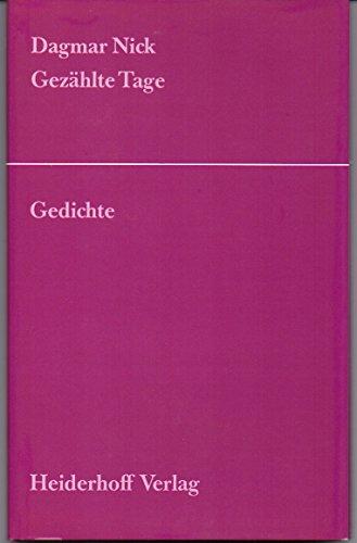 9783921640760: Gezählte Tage. Gedichte