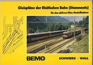 Gleispläne der Rhätischen Bahn. Für den aktiven