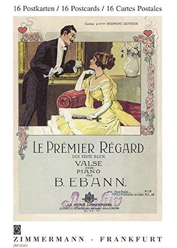 Postkartenbuch: 16 Musiktitel aus der Zeit von 1886 bis 1923 auf Postkarte