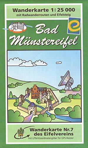 Bad Münstereifel: Wanderkarte Nr. 7 des Eifelvereins (1:25.000): Desconocido