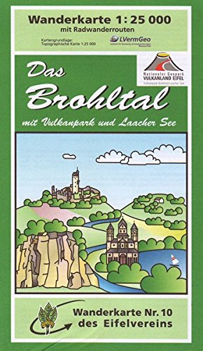 Brohltal: Wanderkarte Nr. 10 des Eifelvereins: Desconocido