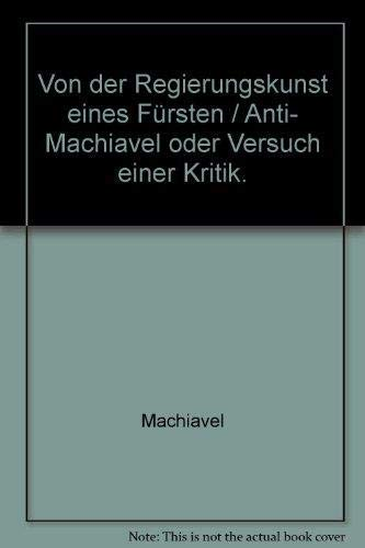 Anti Machiavel Abebooks