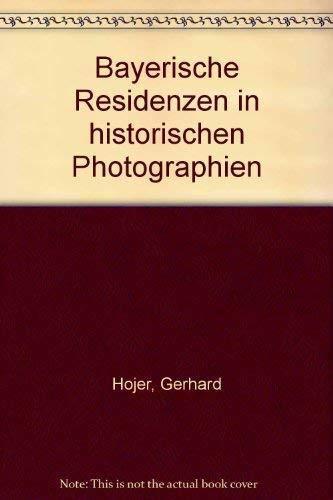 Bayerische Residenzen in historischen Photographien. Herausgegeben von der Bayerischen Verwaltung der Staatlichen Schlösser, Gärten und Seen in München.
