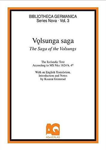 9783922441670: Volsunga Saga / the Saga of the Volsungs: The Icelandic Text According to MS Nks 1824 B, 4o (Bibliotheca Germanica)
