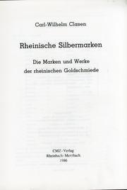 9783922584483: Rheinische Silbermarken: Die Marken und Werke der rheinischen Goldschmiede