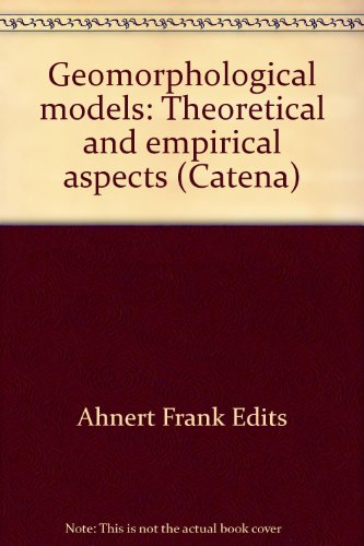9783923381104: Geomorphological Models: Theoretical and Empirical Aspects (Catena Supplement 10)