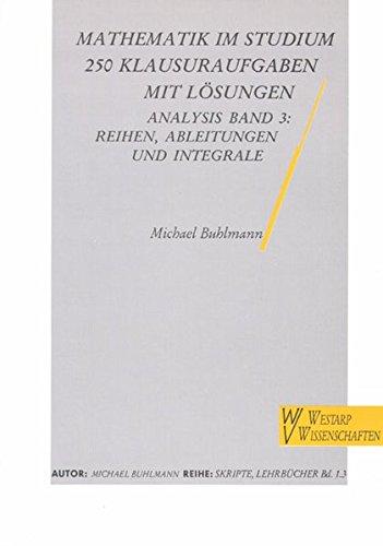 9783923456710: Analysis. Reihen, Ableitungen und Integrale, Bd 3