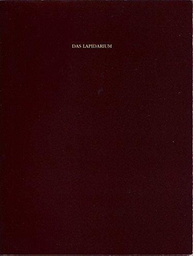 9783923479450: Das Lapidarium