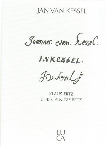 9783923641536: Die Maler Jan van Kessel: der Ältere, der Jüngere, der