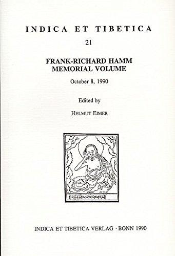 Frank-Richard Hamm memorial volume: October 8, 1990