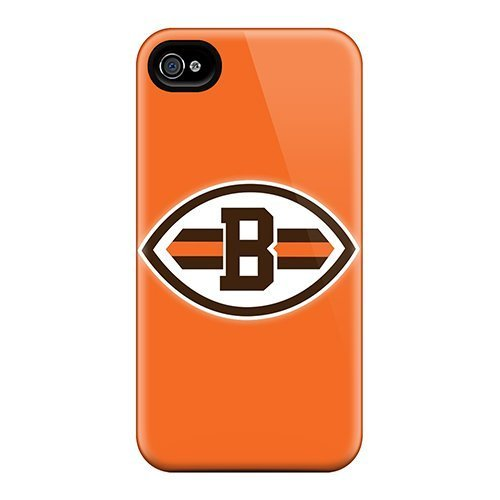 9783924045098: iphone 5c Hard Back With Bumper Silicone Gel Tpu Case Cover Cleveland Browns 8